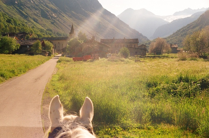 Image - on horseback Alps